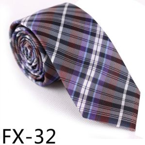 New Design Fashionable Silk/Polyester Check Tie Fx32 pictures & photos