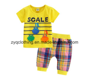Short Sleeve Frog Suit, High Quality Cotton Summer Suit for Kids pictures & photos