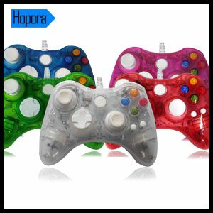 Afterglow Transparent Color Remote Controller Wired USB Cable Gamepad with LED Light for Microsoft xBox 360
