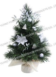 mini artificial christmas tree with pre decorative ornaments 12 inch 30cm