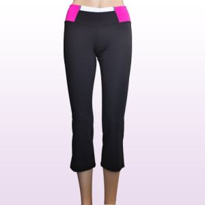 china newest style of ladies yoga pants 100 polyester