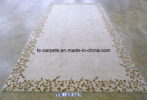 Wool Carpet with Design of Floral Border