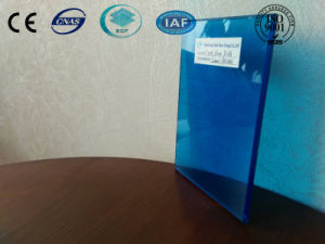 Dark Blue Laminated Glass with Ce, ISO