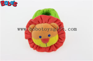 Soft Short Plush Stuffed Lion Toy Baby Indoor Shoes with Rattle pictures & photos