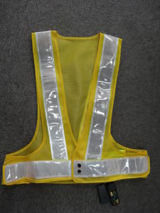 Customized EL Safety Vest with Rechargeable Battery