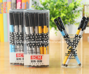 Classical Dots Print Gel Pen for Students Use V1663