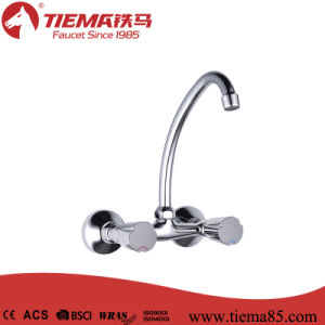 Two Handle Polished Brass Kitchen Faucet (ZS63102)