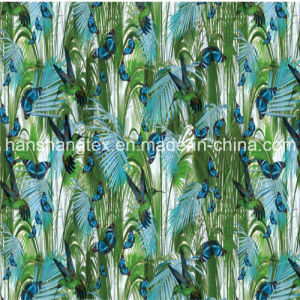 Digital Print Satin Fabric for Dress Fabric (HS31005-11)