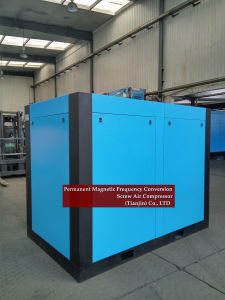Energy Saving Two Stage Rotary Screw  Air Compressor with VFD pictures & photos