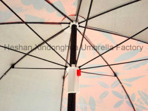 2m Black Coating Outdoor Sun Umbrella with SPF 50 (BU-0040B) pictures & photos
