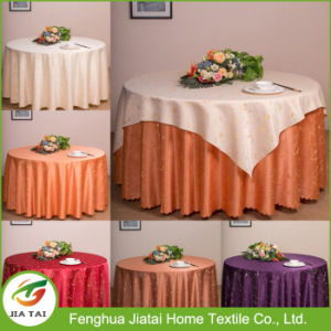 China Custom Design Polyester Round Hand Embroidered Table Cloth For