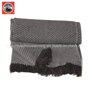 Yak Jacqard Blanket/ Cashmere Fabric/ Camel Wool Textile/Bedding/Bed Sheet pictures & photos