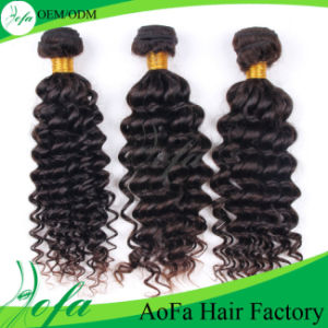 Deep Wave 100% Brazilian Human Virgin Remy Hair Weft pictures & photos