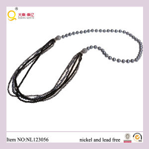 Fashion Freshwater Pearl, Facted Crystal Glass Bead Necklace, Latest Design Jewellery/Jewelry Necklace with Magnet Clasp pictures & photos
