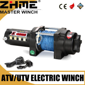 Small ATV 4000lbs Electric Light Duty Winch with Synthetic Rope pictures & photos
