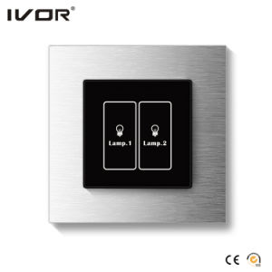 2 Gangs Lighting Switch Touch Panel Aluminum Alloy Outline Frame (HR1000-AL-L2) pictures & photos