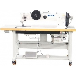 Long Arm Flat Bed Double Needle Triple Feed Walking Foot Extra Heavy Duty Lockstitch Sewing Machine pictures & photos