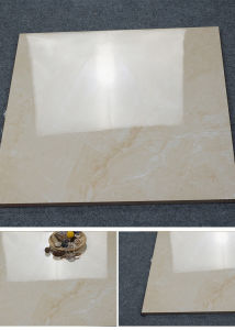 Foshan Tile 600X600mm Beige Marble Copy Glazed Polished Tile pictures & photos