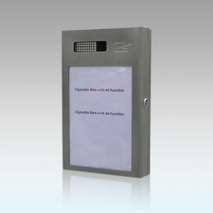 Self-Extinguishing Weather- & Theft-Proof Wall-Mounted Cigarette Bin, Gh-C24ad-S