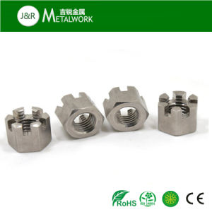 Slotted hex nut stainless steel yates poker