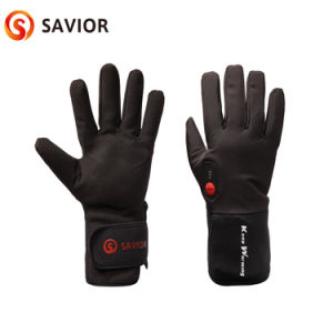 Battery Heated Bicycle Glove for Outdoor Sport, Waterproof, Smart Controller, 3 Level Control pictures & photos