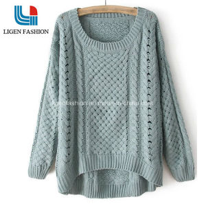 China Fashionable Knitted Sweater With Different Pattern For Ladies