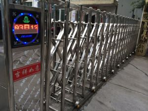 Electric Retractable Intelligent Folding Gate (HF-8100) pictures & photos