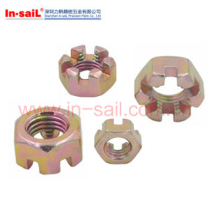 DIN935 Hexagon Slotted Nuts and Caltle Nuts pictures & photos