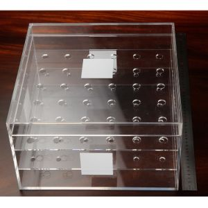 Custom 36 Holes Transparent Acrylic Square Rose Flower Box pictures & photos