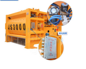 Super Quality 3000L Twin Shaft Concrete Mixer Js3000 pictures & photos