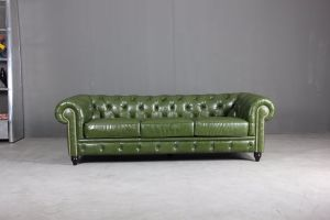 Modern Chesterfield Sofa with PU Leather Sofa for Home Furniture