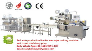 Full Automatic Wet Wipe Making Machine with Folding and Packing Machine