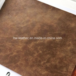 Two Tone Synthetic PU Leather for Handbags Hx-B1711 pictures & photos