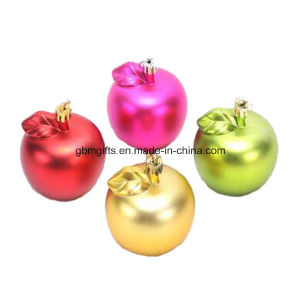 Gold, Silver and Red Colorful Christmas Apples
