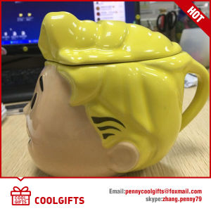 Customized Cartoon Design Ceramic Mug with Lid (CG216) pictures & photos