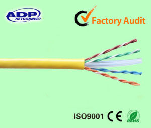UTP CAT6 Indoor Cable 0.57mm Bare Copper Conductor Pass Fluke 100m pictures & photos