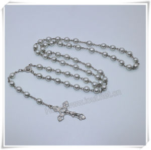 Glass Faux Pearl Bead Rosary, White Rosary, Rosario, Rosaries, Pearl Rosary Virgin Mary Centerpiece (IO-cr397) pictures & photos