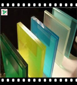 Colored / Tinted Toughened Safety PVB Laminated Building Glass pictures & photos