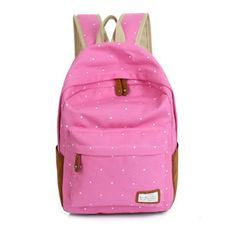 Polka DOT Candy Color Canvas School Bag Backpack (BDMC018) pictures & photos
