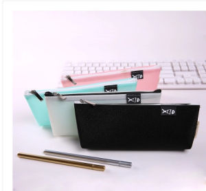 Four Color Most Popular and Waterproof PU Pencil Bag pictures & photos