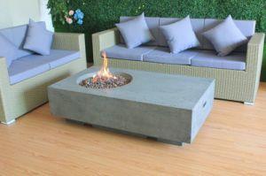 Rectangle Grc Gfrc Outdoor Gas Fire Pits Table In Garden
