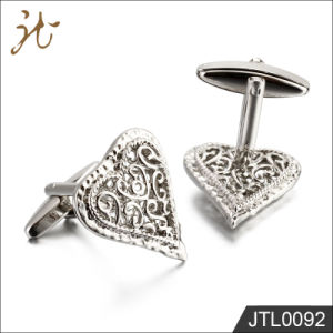 Fashion Nice Quality Heart Design Cuff Buttons for Jewelry pictures & photos