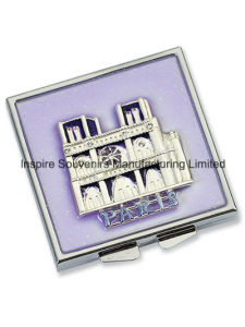 Square Folded Purple Pocket Mirror for Promotion (MX103A) pictures & photos