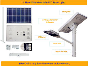 30-80W Poly Crystalline Solar LED Outdoor Garden, Road and Street Lamp