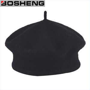 China Traditional Black Wool Tami Beret Cap Hat c18d740dcca