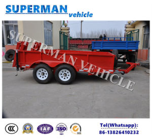 Two Axle Lowloader Dolly Drawbar Car Carrier Semi Truck Trailer pictures & photos