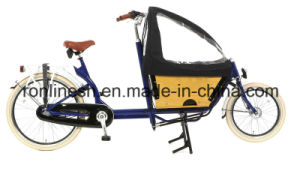 Pedal or 250welectric Two Wheels Delivery Bicycle/Cargo Bike or Box Bike for Family/2 Wheel Bicycles for Two Kids/ 2 Wheel Bakfiets pictures & photos