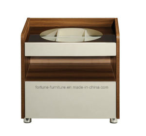 Bedroom Furniture/Modern Wooden Walnut & White Bedside Table (B1082)