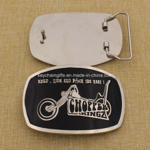 2016 Custom Metal Silver Belt Buckle with Soft Enamel pictures & photos