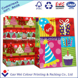 Custom Low Cost White Kraft Craft Merry Christmas Paper Bag for Gift pictures & photos
